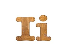 Letter I Wooden.