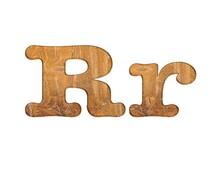 Letter R Wooden.