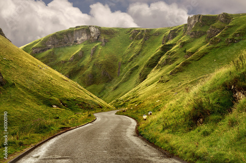 The road at Winnats Pass Wallpaper Mural