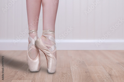 Fotografie, Obraz  Perfect Ballet Dancer En Pointe With Copy Space