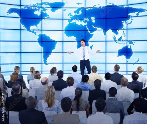 Fototapeta na wymiar Global Business Presentation