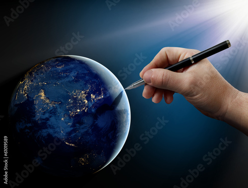 Photo God's intervention in human affairs on Earth.