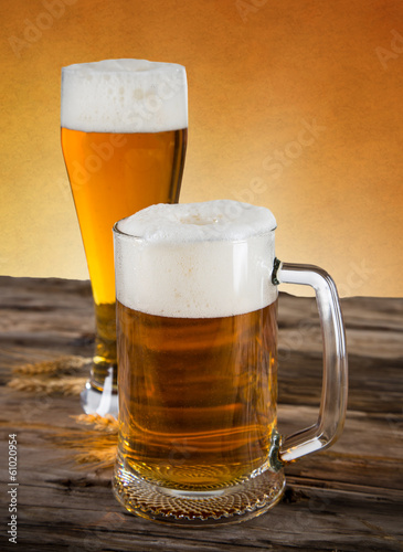 Photo sur Toile Biere, Cidre Still life with a draft beer
