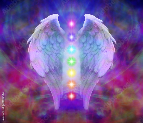Photo  Reiki Angel Wings and Seven Chakras