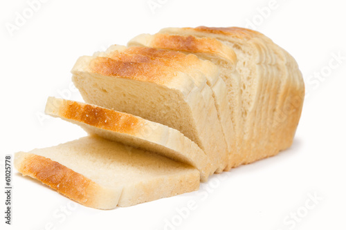 Bread isolated Canvas Print
