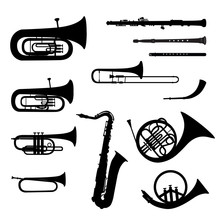 Music Instruments Vector Set. ...