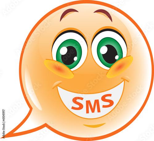 Foto op Canvas Schepselen Speech bubble emoticon