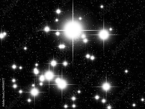 Canis Maior constellation with Sirius Canvas Print