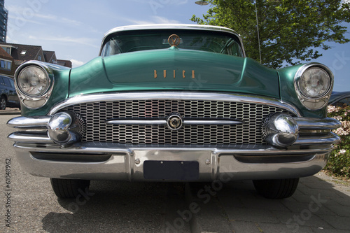 Front of a Buick roadmaster vintage car.
