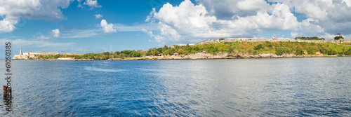 Photo Panoramic view of the old fortresses guarding the bay of Havana