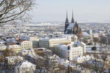 Wintry Historic Center Of Brno