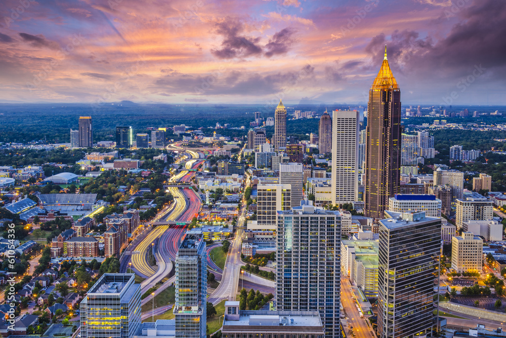 Fototapeta Atlanta, Georgia Skyine