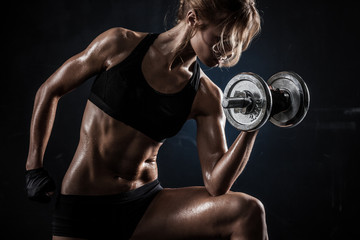 Fototapeta Fitness with dumbbells