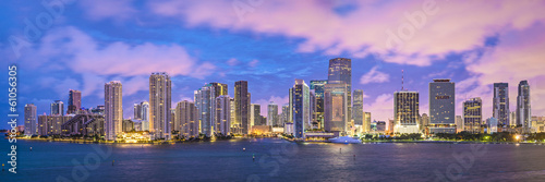 Photo  Miami, Florida Panoramic Skyline