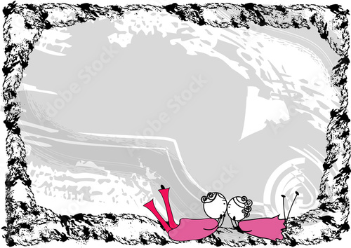 Couple in love with frame - Buy this stock vector and explore ...