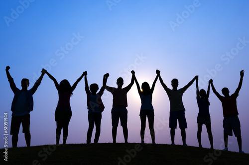 Fotografie, Obraz  People Holding Hands
