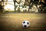 Fototapeta Sport - soccer ball in goal