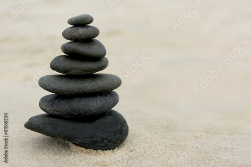 Acrylic Prints Stones in Sand Zen Stones on Sand