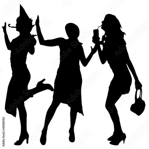 Deurstickers Dance School vector silhouette woman