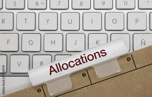 Allocations. Clavier Canvas Print
