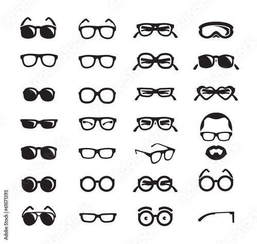 Fotografía Glasses icons. Vector format