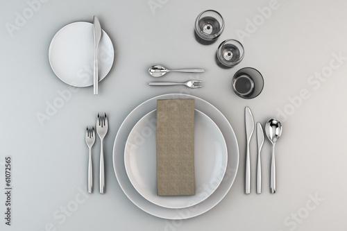 Fotografia  gedeckter Tisch
