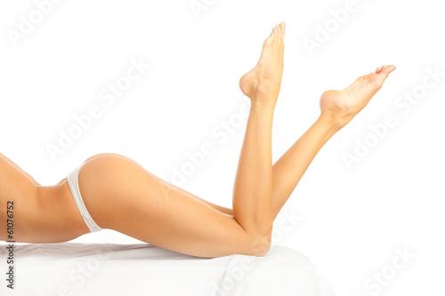Foto op Canvas Gymnastiek Beautiful female legs.