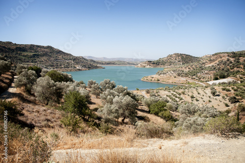 Fototapeten Natur Lake in Crete