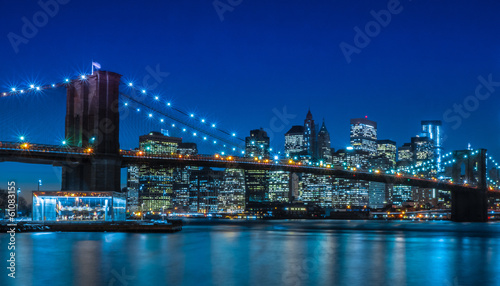 Foto auf Leinwand Brooklyn Bridge Brooklyn Bridge NYC Skyline