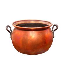 Empty Bronze Pot. Vintage Hand...