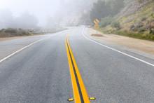 Foggy Road In Calfornia Pacifi...