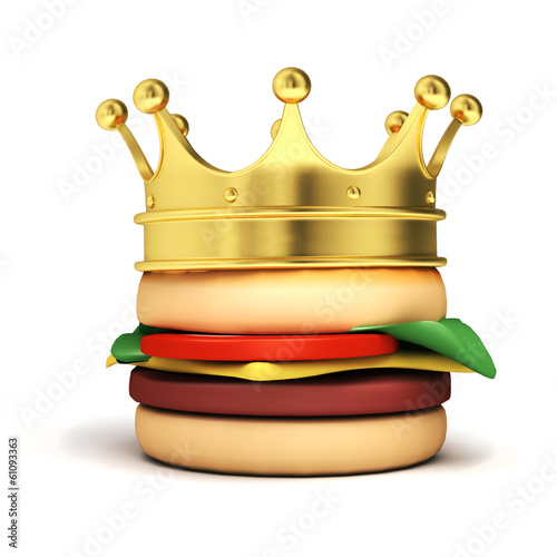 Burger with crown