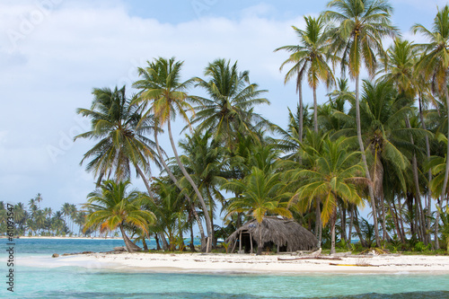 Photo Stands Turquoise Beautiful paradise island, San Blas