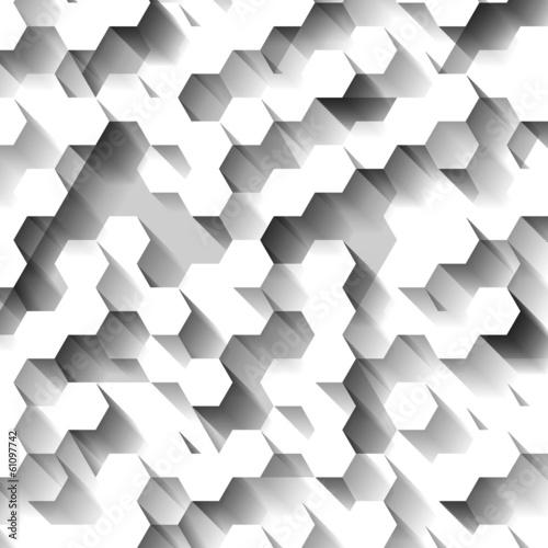 wzor-z-bialych-szesciokatow-3d