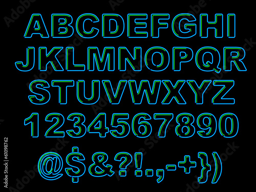 Photo  Bold Neon Alphabet