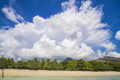 Deserted beach Canvas Print
