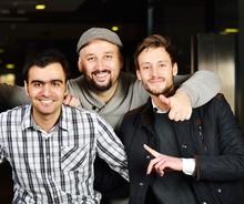 Three Friends Portrait Of Different Ethnicities