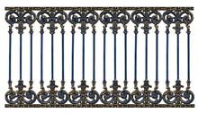 Alloy Steel Gate Pattern On White Backround