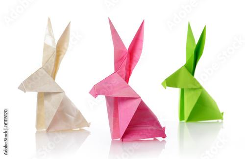 paper rabbits Poster