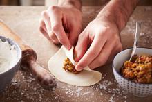 Preparing Vegetable Dim Sums