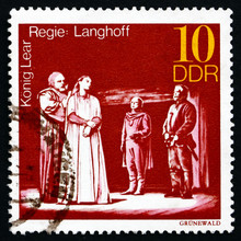 Postage Stamp GDR 1973 King Lear, Performance