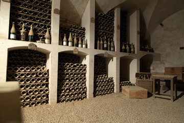 FototapetaThe cellar to the storage of wine in the castle of Valencay.