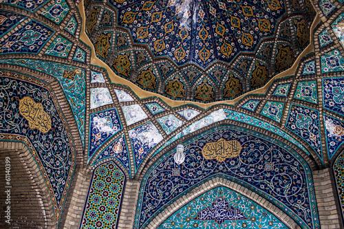 Ceiling of main bazaar in Tehran, Iran