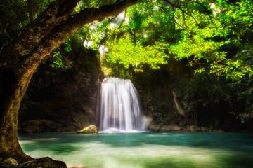 Level five of Erawan Waterfall