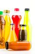 Soft bottle drink isolated white background