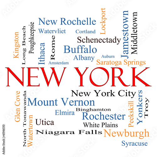 Photo  New York State Word Cloud Concept