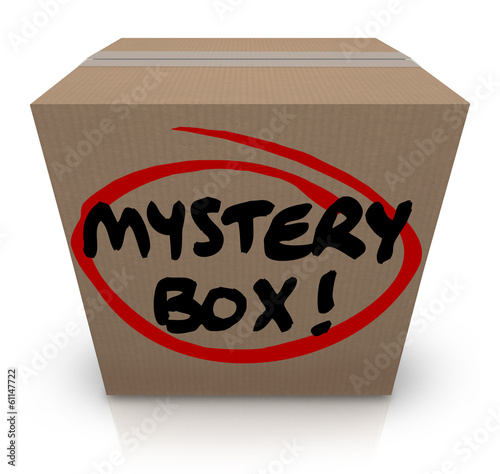 Mystery Cardboard Box Shipment Package Classified Contents Poster