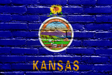 Kansas State Flag Painted On B...