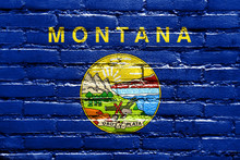 Montana State Flag Painted On ...