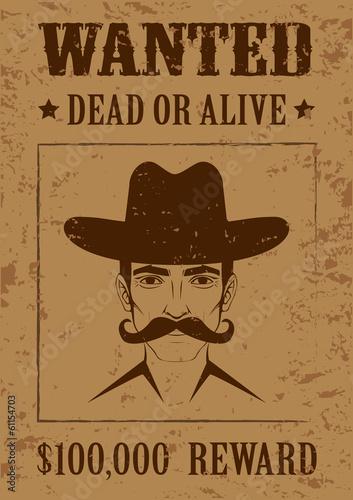 wektor-zachodni-plakat-martwy-lub-zywy-twarz-kowboja